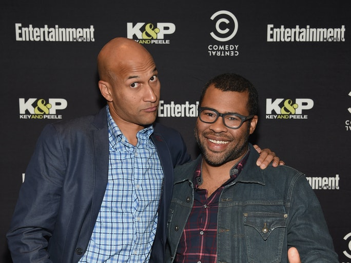 Photo of Keegan-Michael Key & his friend actor  Jordan Peele Meet - Los Angeles