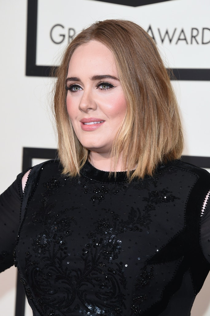 Adele has new ombre hair at 2016 grammys remains flawless photo