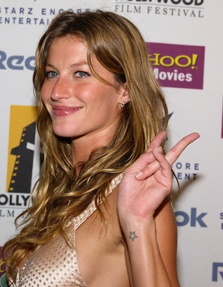 10 models with tattoos who hide them really really well for Gisele bundchen tattoo wrist