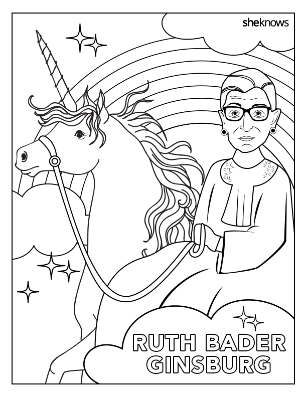 This ruth bader ginsburg coloring book is perfect for for Sonia sotomayor coloring page