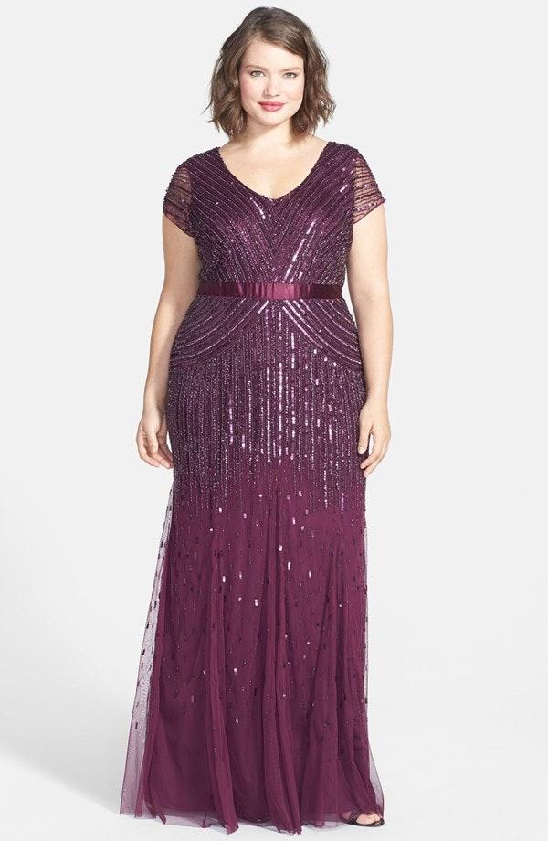 33 plus size wedding guest dresses for curvy ladies for Adrianna papell wedding guest dresses