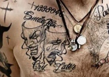 Tom Hardy's Tattoos from the 'Esquire Magazine' Cover ...