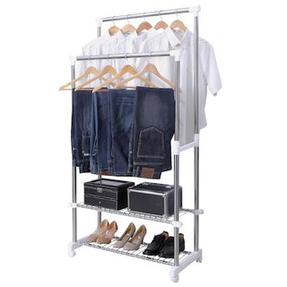 10 essential things all grown ass women need in their for Clothes rail on wheels ikea