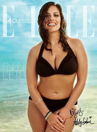Elle Quebec Features A Plus Size Model On The Cover Oh
