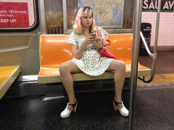 Legs when sitting on the subway my weekend of sitting like a man