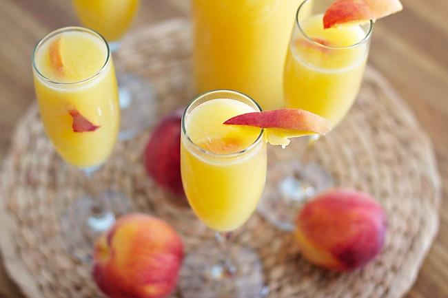 Peachy Mimosas Recipe — Dishmaps