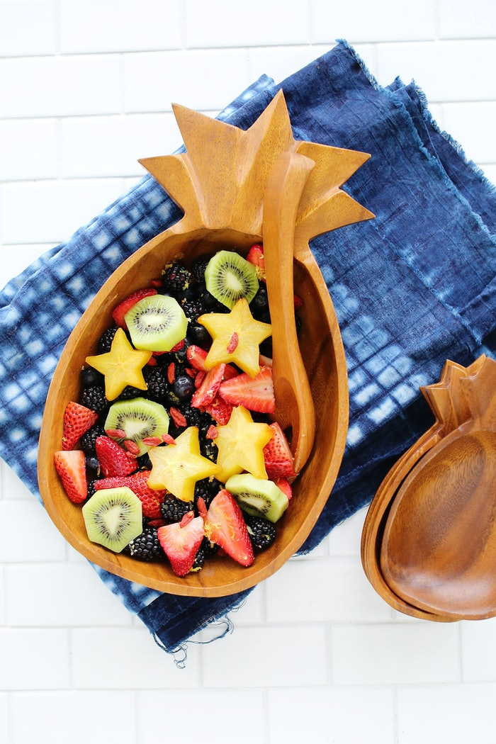 This delicious fruit salad is from A Beautiful Mess . The star shaped ...