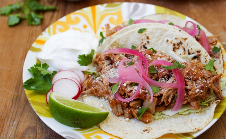 pork bbq pulled pork tacos salsa recipes yummly pulled pork tacos with ...