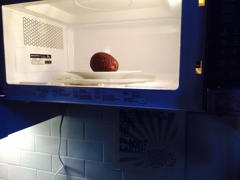 how to make avocado ripen microwave