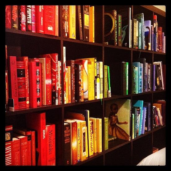 23 Rainbow Bookshelf Photos To Inspire Your Library Bustle