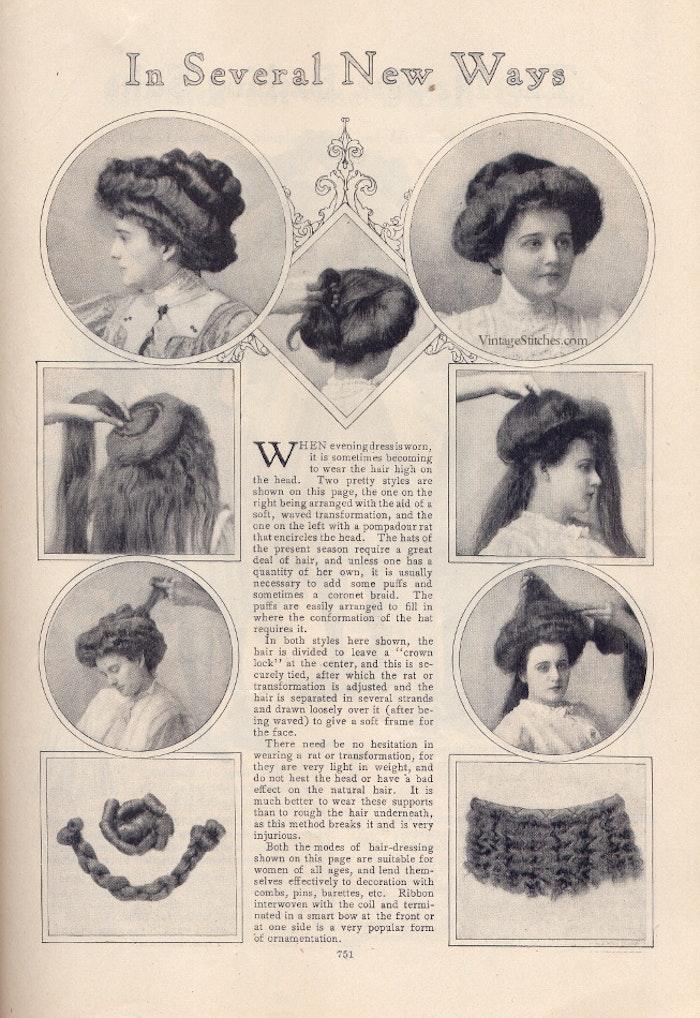 Прически начала 20 века как сделать