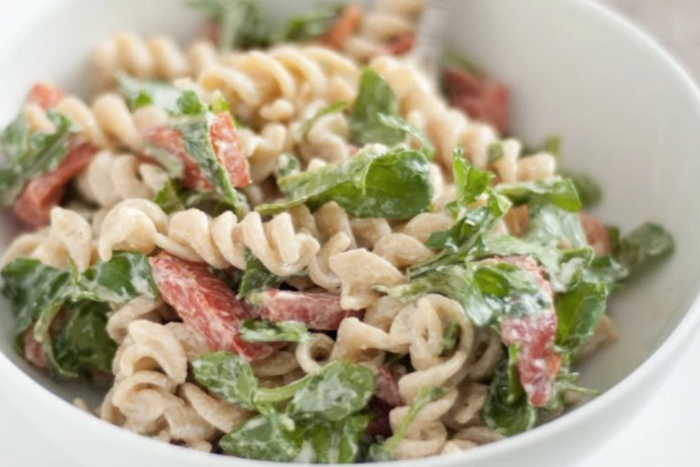 You just need a handful of ingredients to make this pasta salad by ...