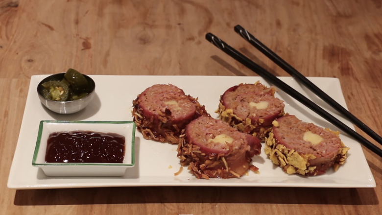 This Bacon, Beef, And Cheese Sushi Officially Means More To Me Than My ...