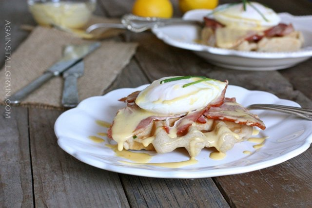 10. Lighter Eggs Benedict With Mock Hollandaise Sauce