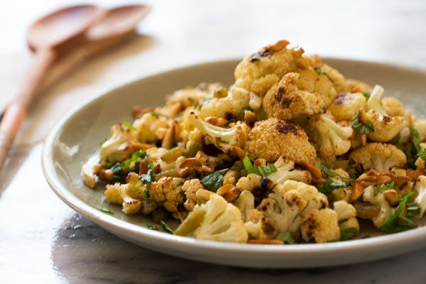 12. Roasted Cauliflower, Golden Raisin, And Candied Almond Salad
