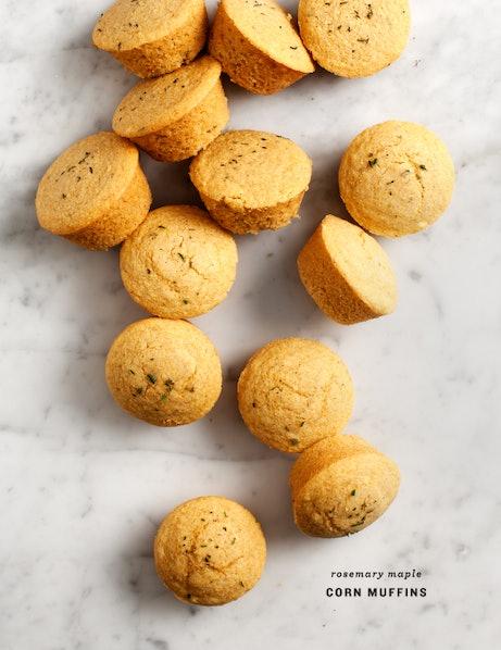 Rosemary Maple Corn Muffins