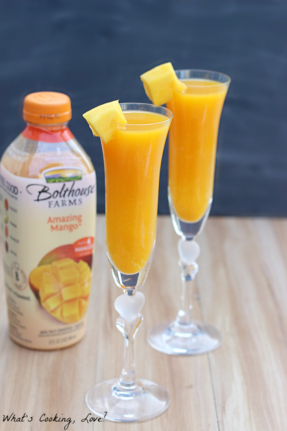 Mango Bellini Mocktail