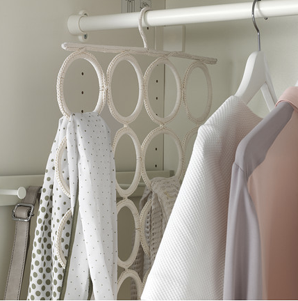 The 20 best ikea hacks for organizing your closet makeup for Scarves hanger ikea