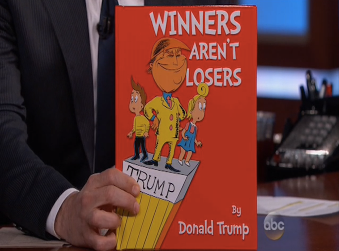 ... Real Book? Jimmy Kimmel Should Ghostwrite For Donald Trump More Often