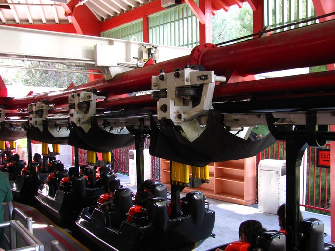 Roller Coaster Rides at Six Flags Six Flags' Ninja Roller