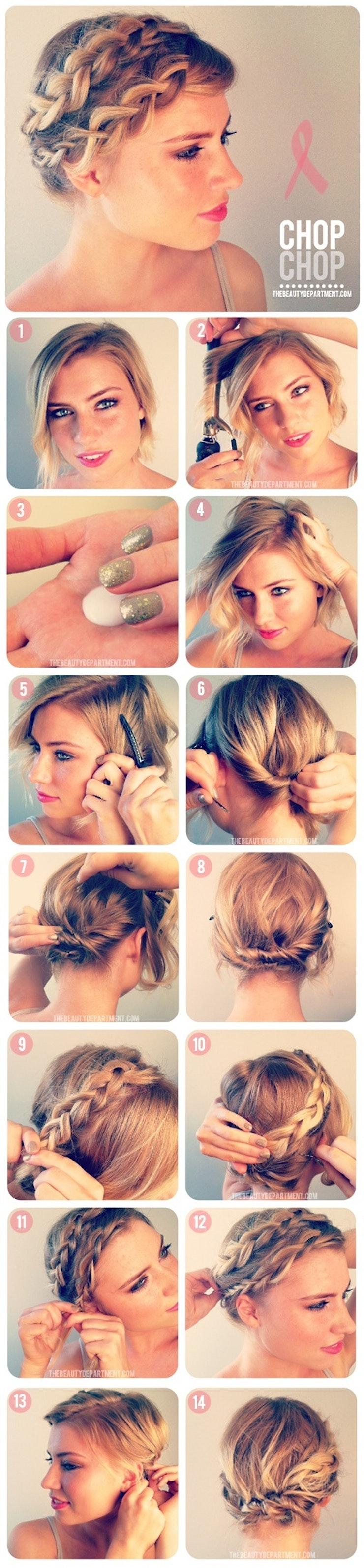 Как сделать на короткие волосы греческую прическу
