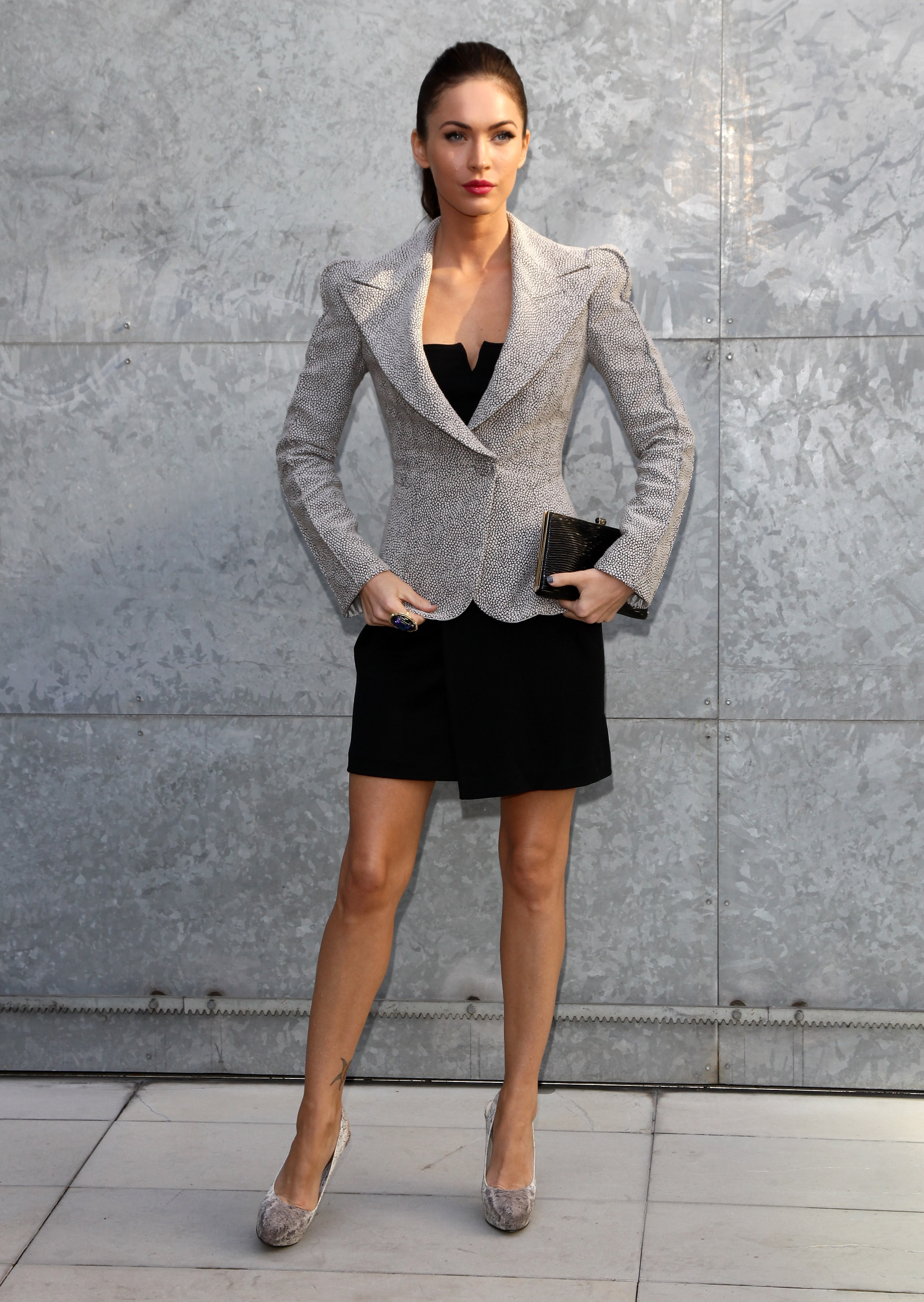 Image result for black models on blazers with fitted party dress