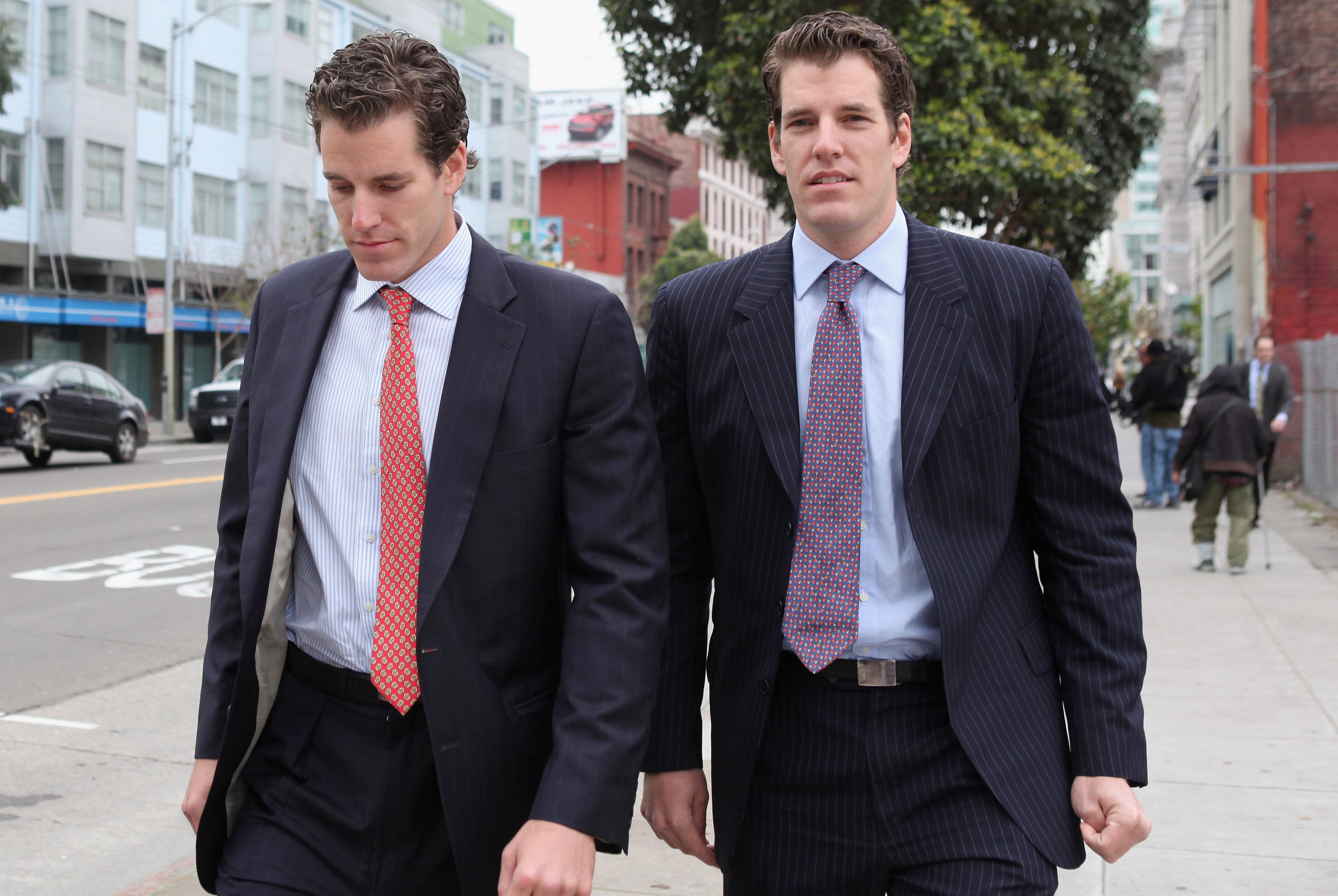 The Winklevoss Twins Put Their Considerable Muscles Behind
