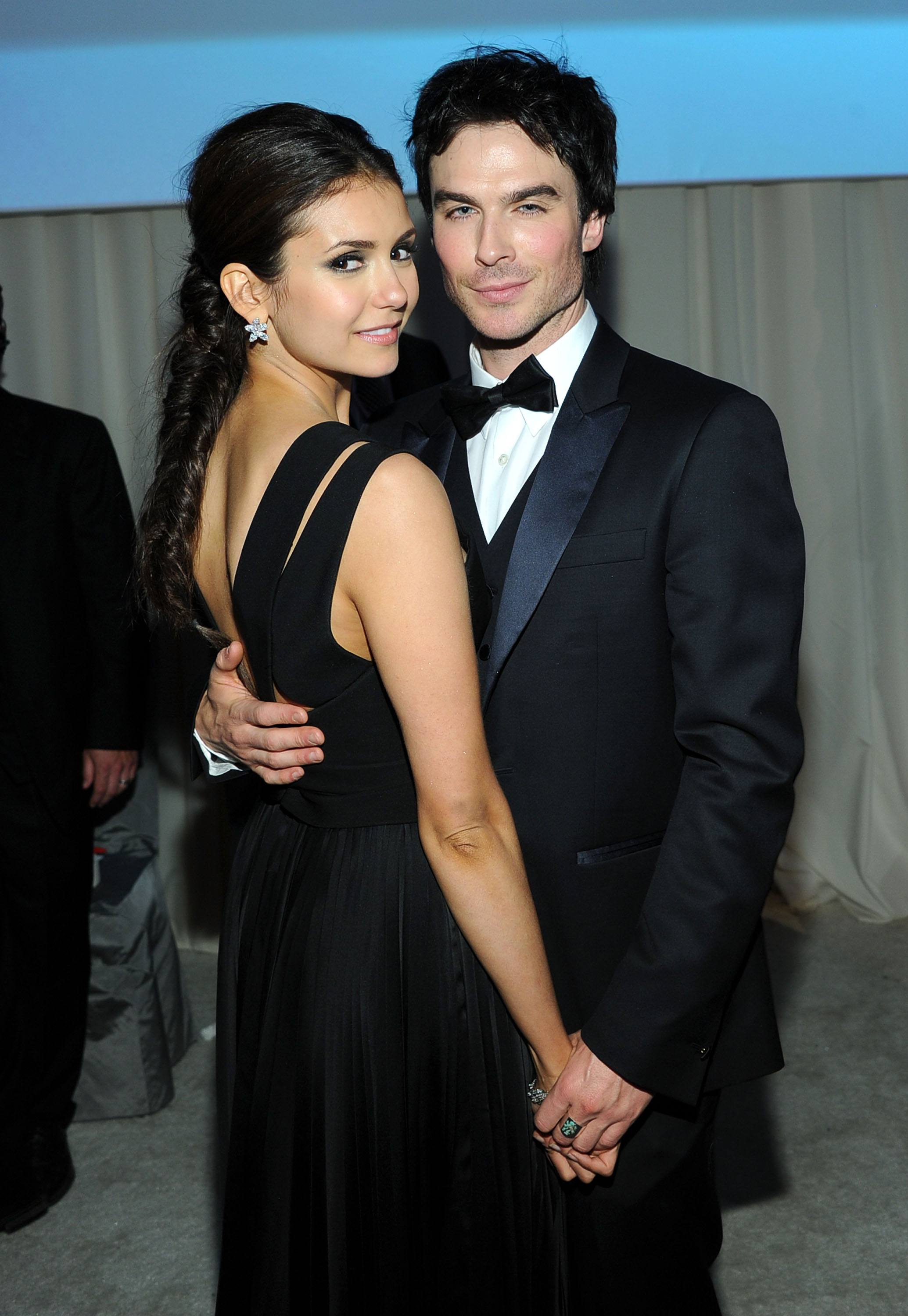 Did nina dobrev attend ian somerhalder nikki reeds wedding larry busaccagetty images entertainmentgetty images junglespirit Images