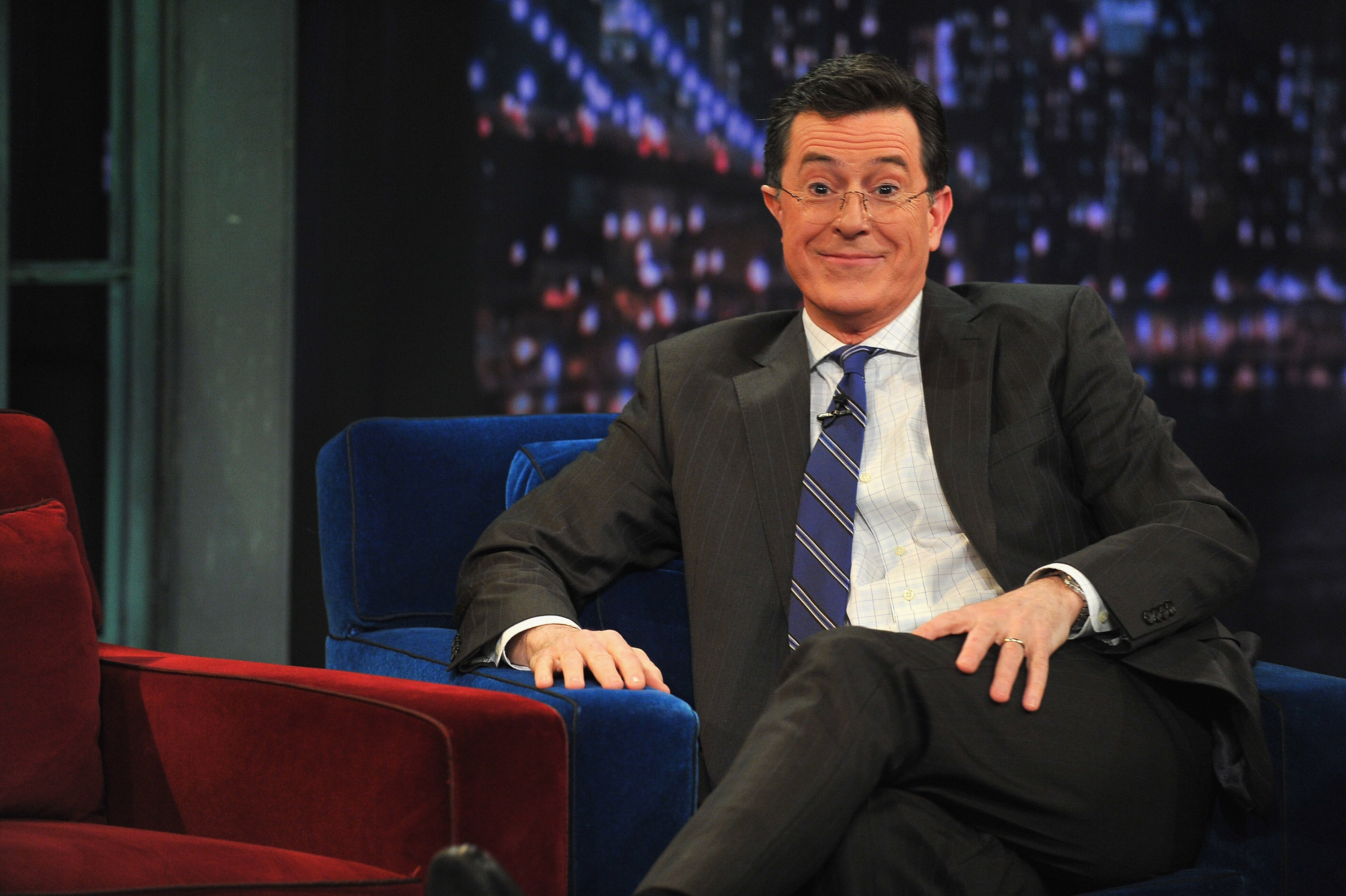Colbert gets head shaved