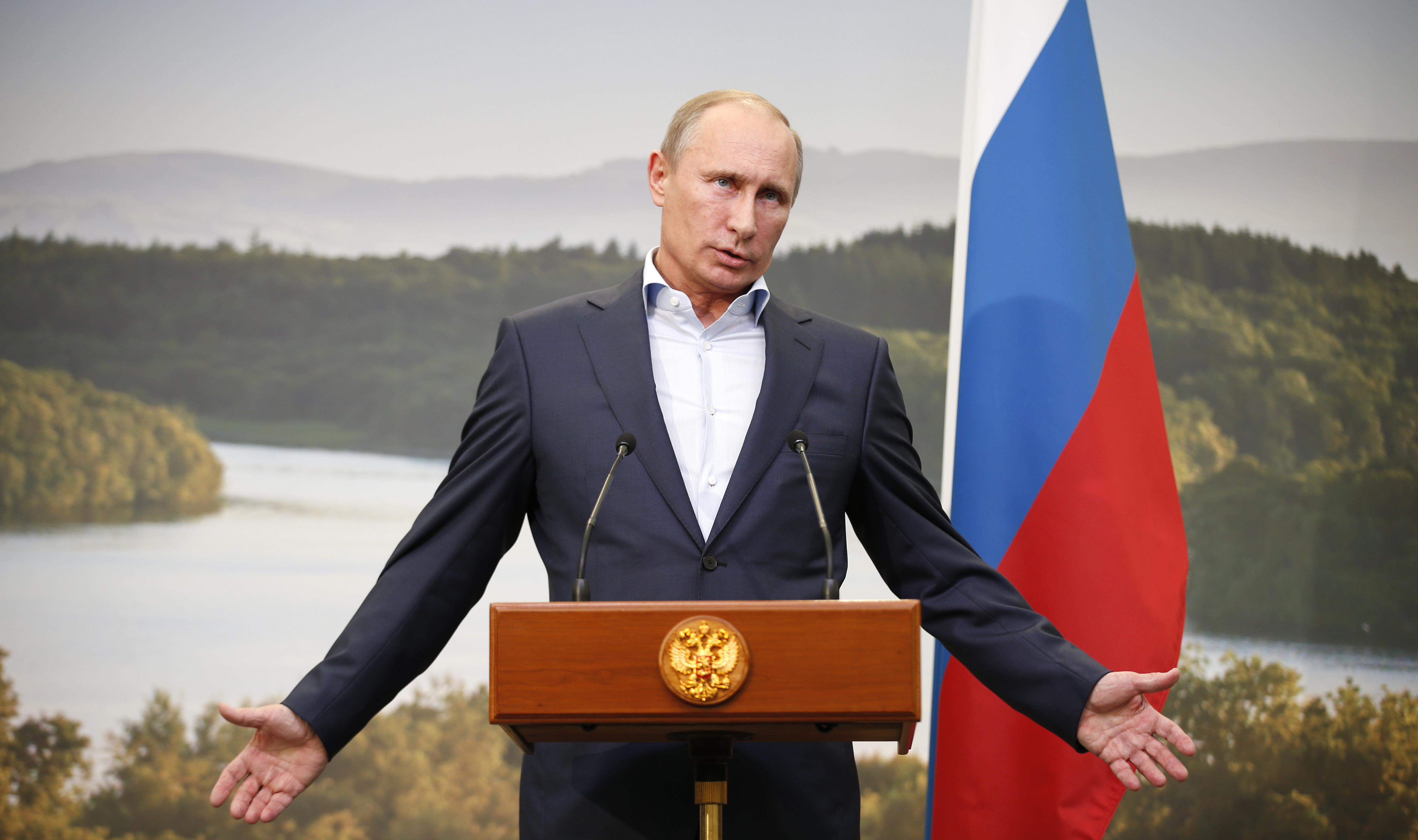 Путин прокомментировал фото верхом на медведе Политика