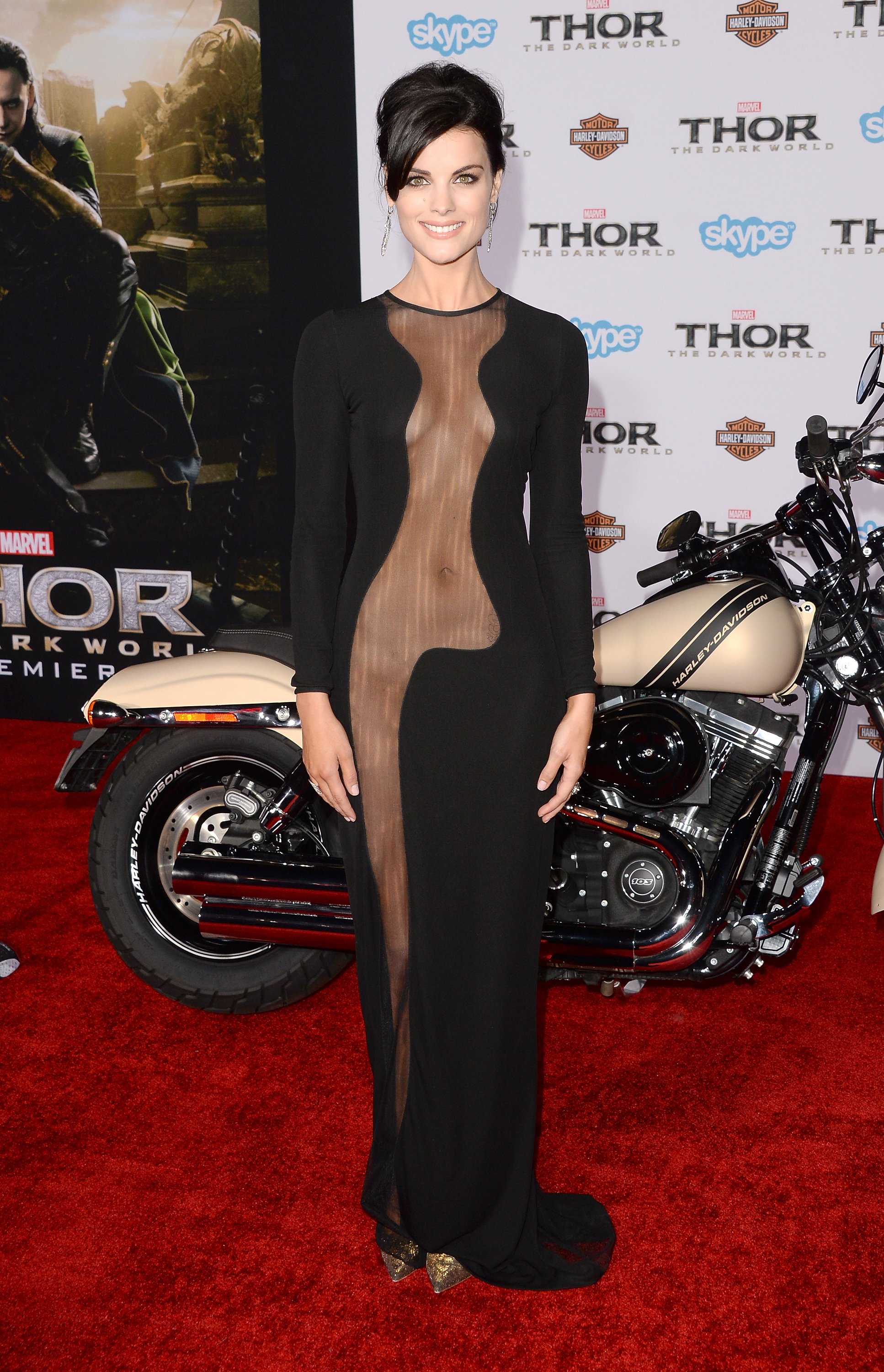 90b6539102 Jaimie Alexander s Revealing  Thor  Dress   More Celebrities With Missing  Fabric