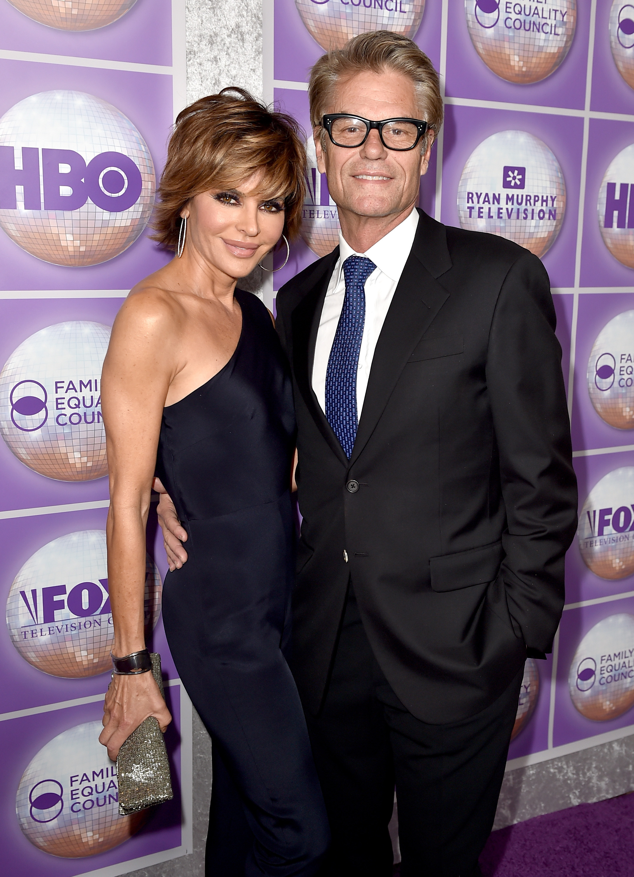 Harry Hamlin with gracious, Wife Lisa Rinna