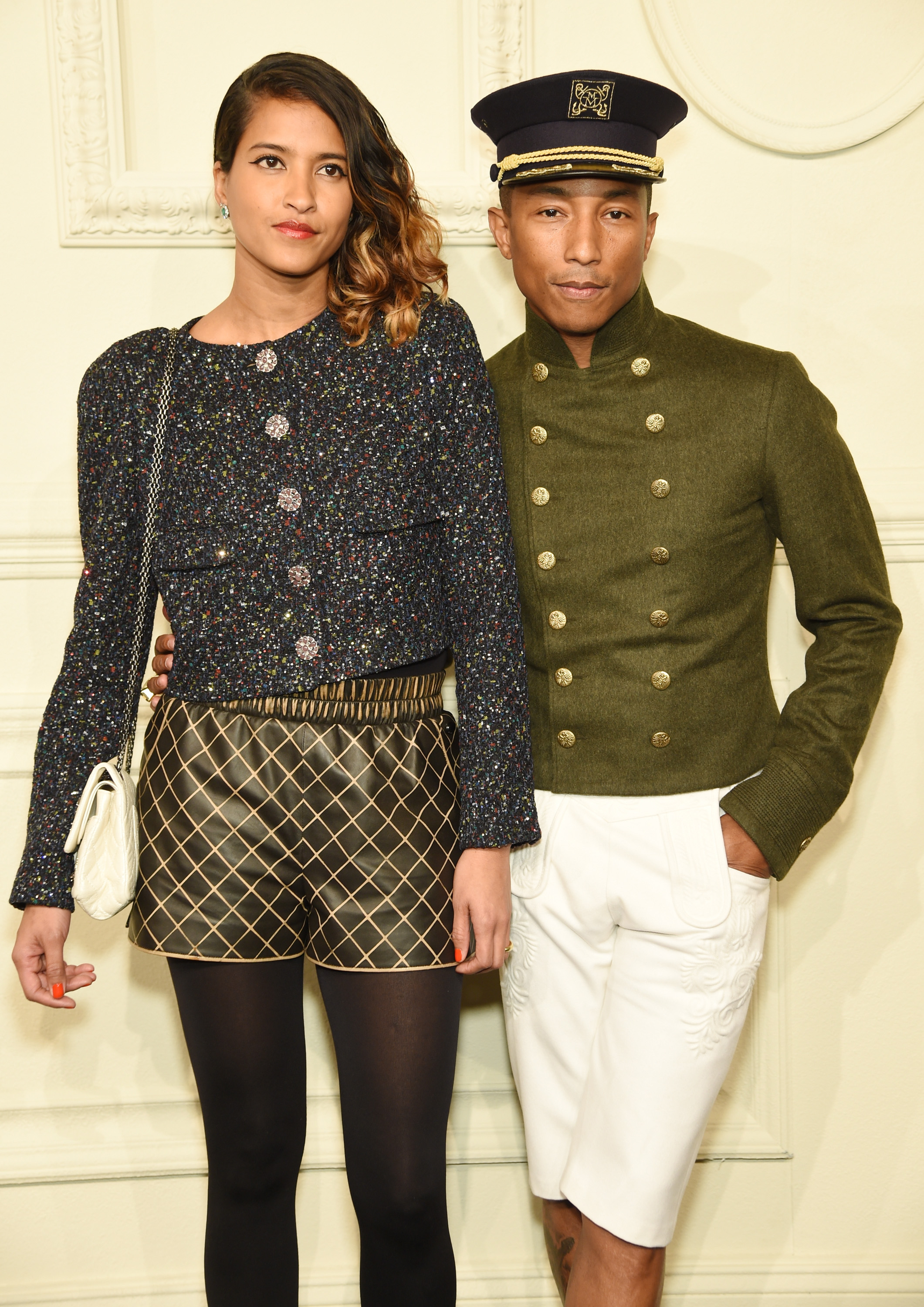 b933592a177 Pharrell Wore A Military Hat   Shorts To Chanel Paris-Salzburg Metiers d Art  Show