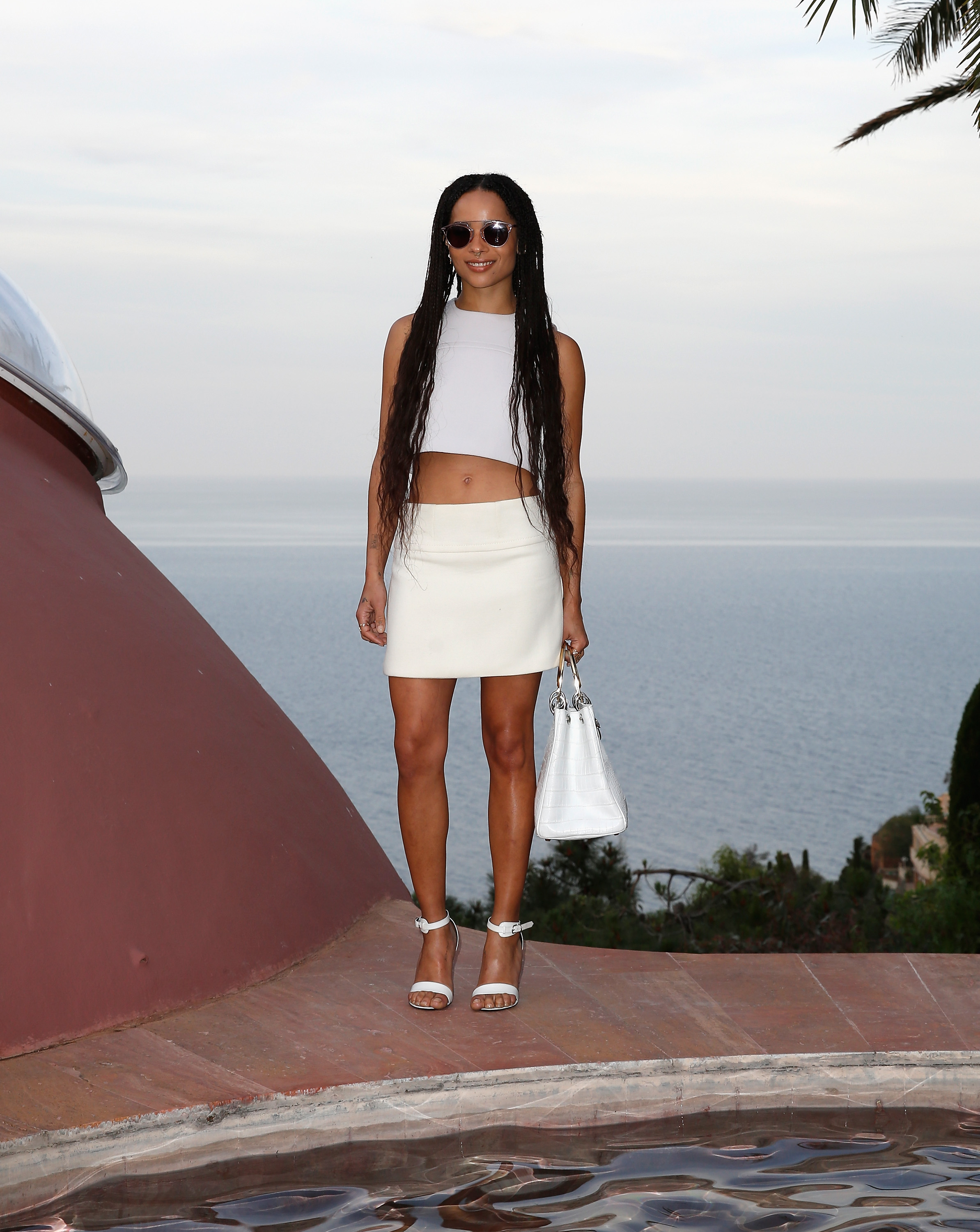 acd04d4779 Zoe Kravitz Goes Monochrome At The Dior Cruise Show
