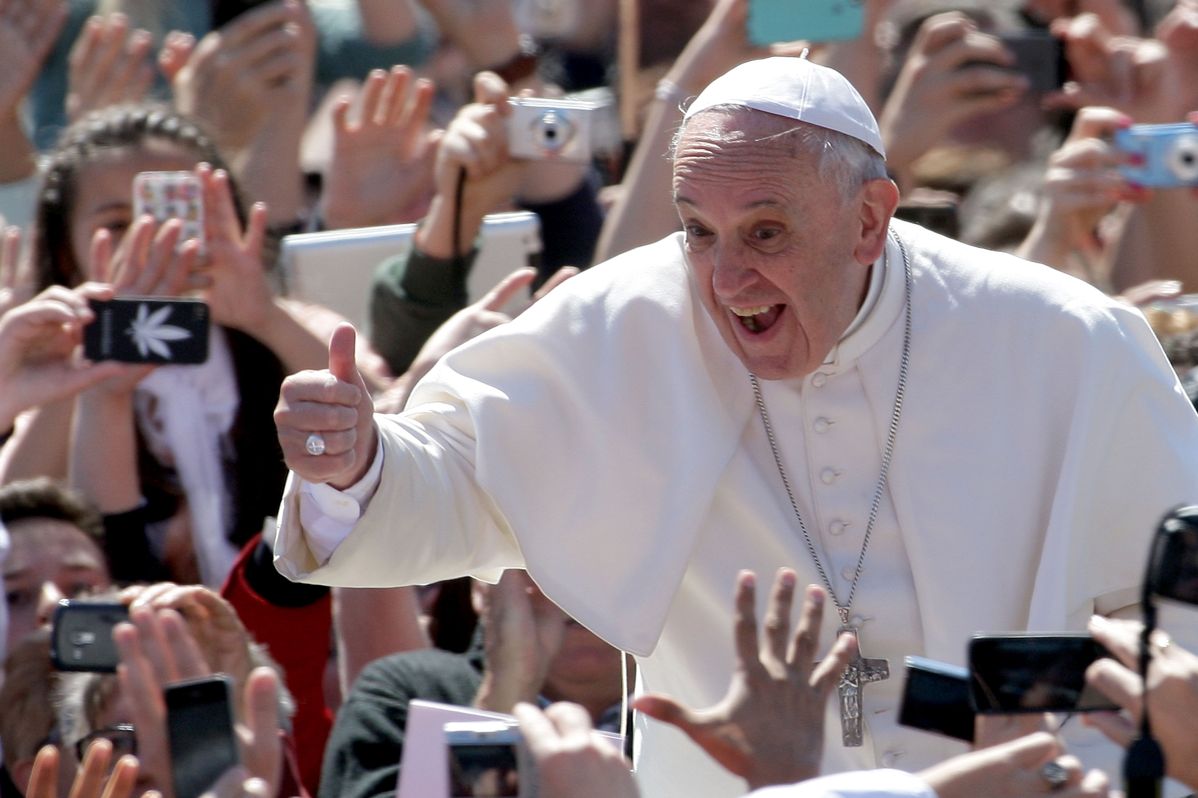 Pimples on the pope