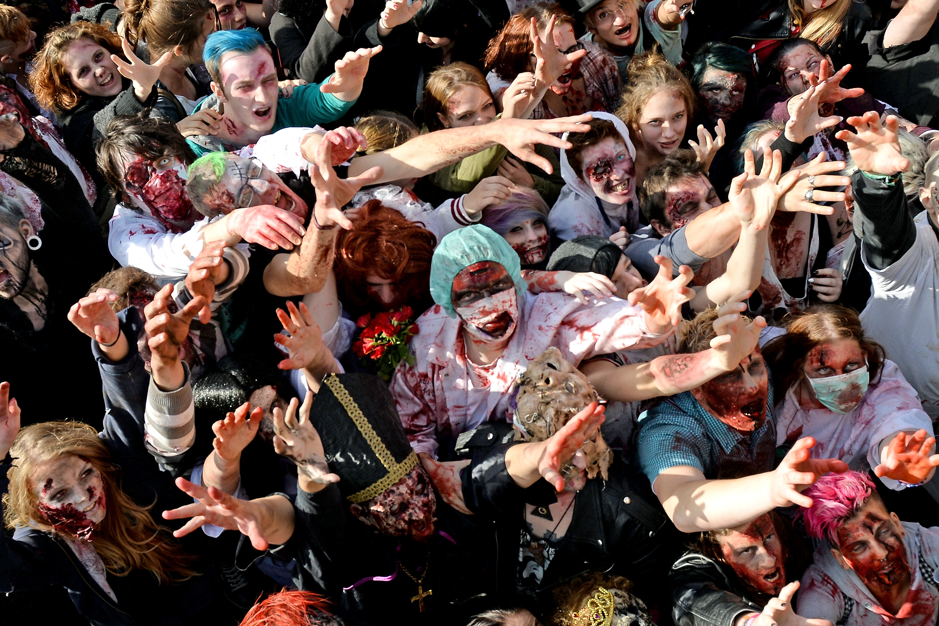 Image result for groups of zombies funny pictures