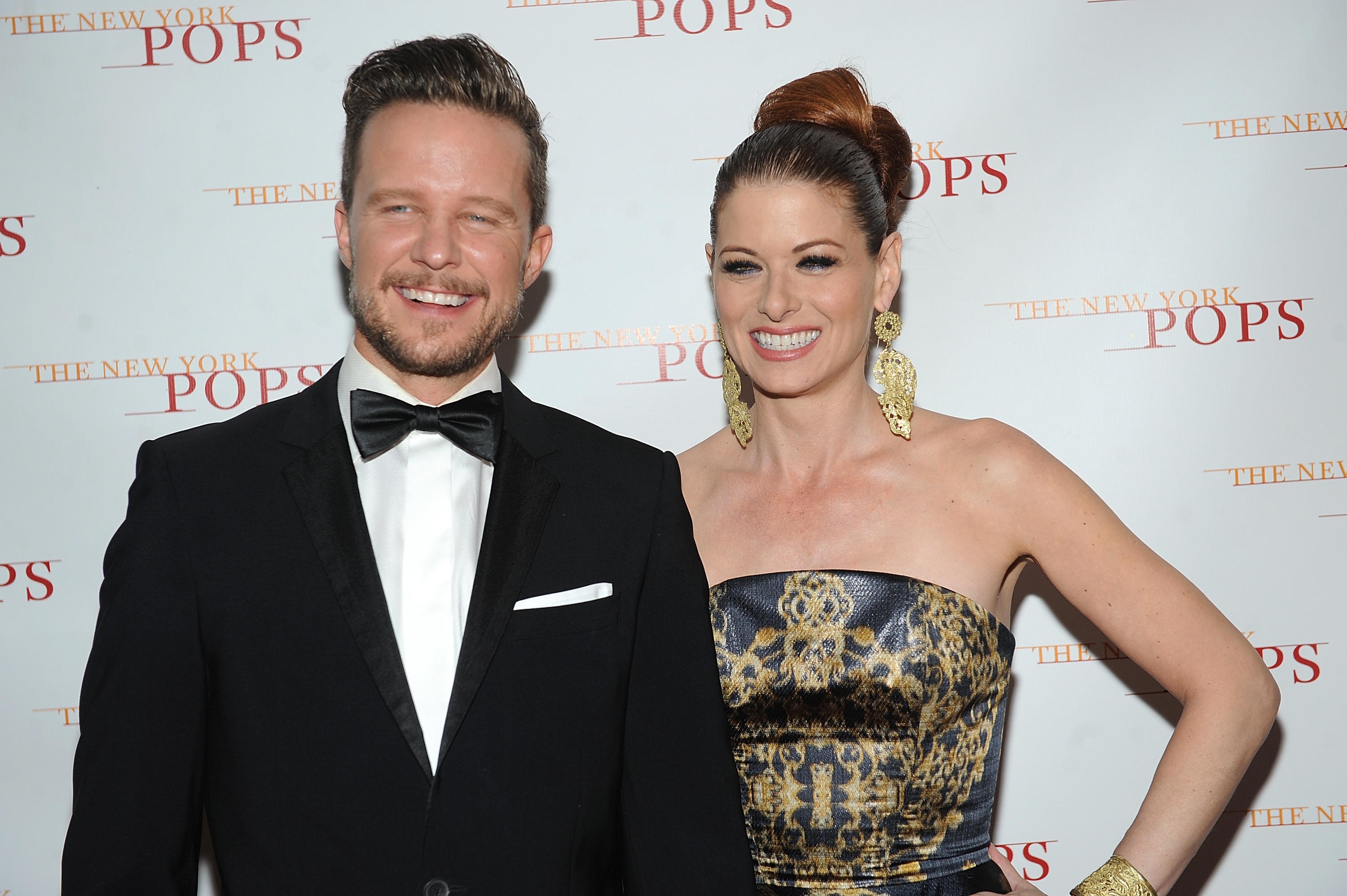 Debra Messing and her former boyfriend Will Chase