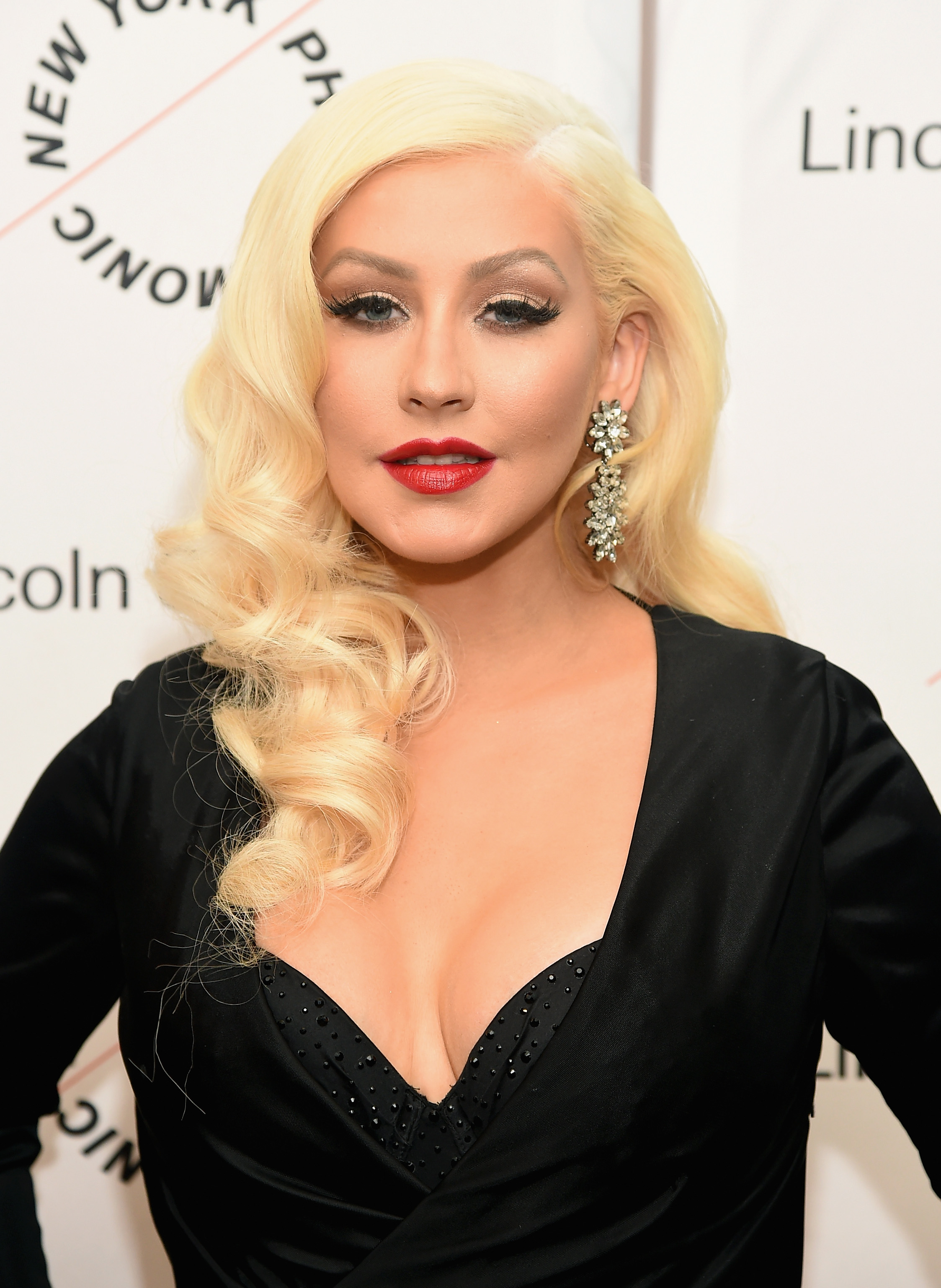 Christina Aguilera Just Dyed Her Hair Very, VeryRed