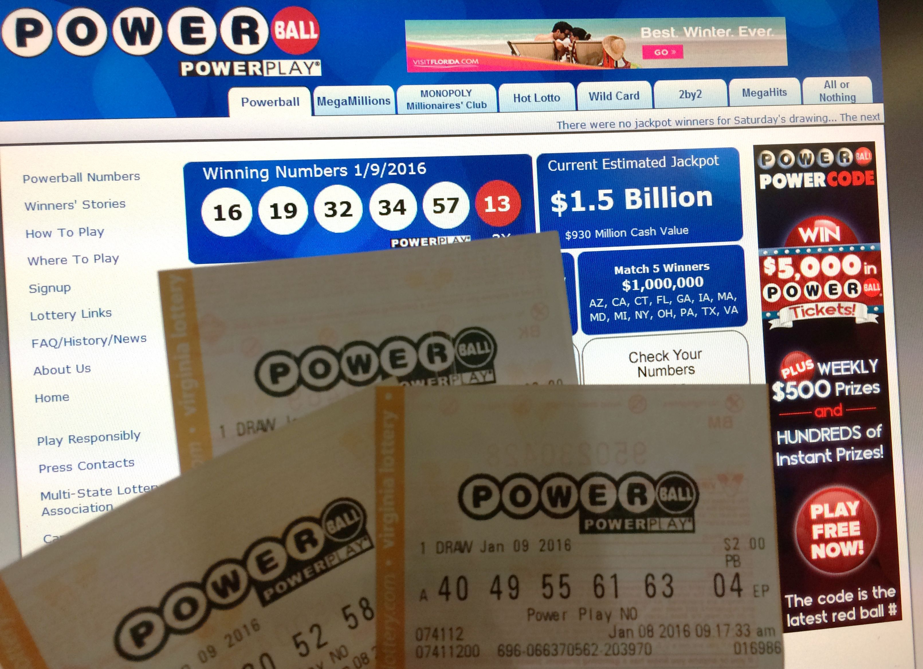 Do Powerball Numbers Have To Be In Order? The $1 5 Billion
