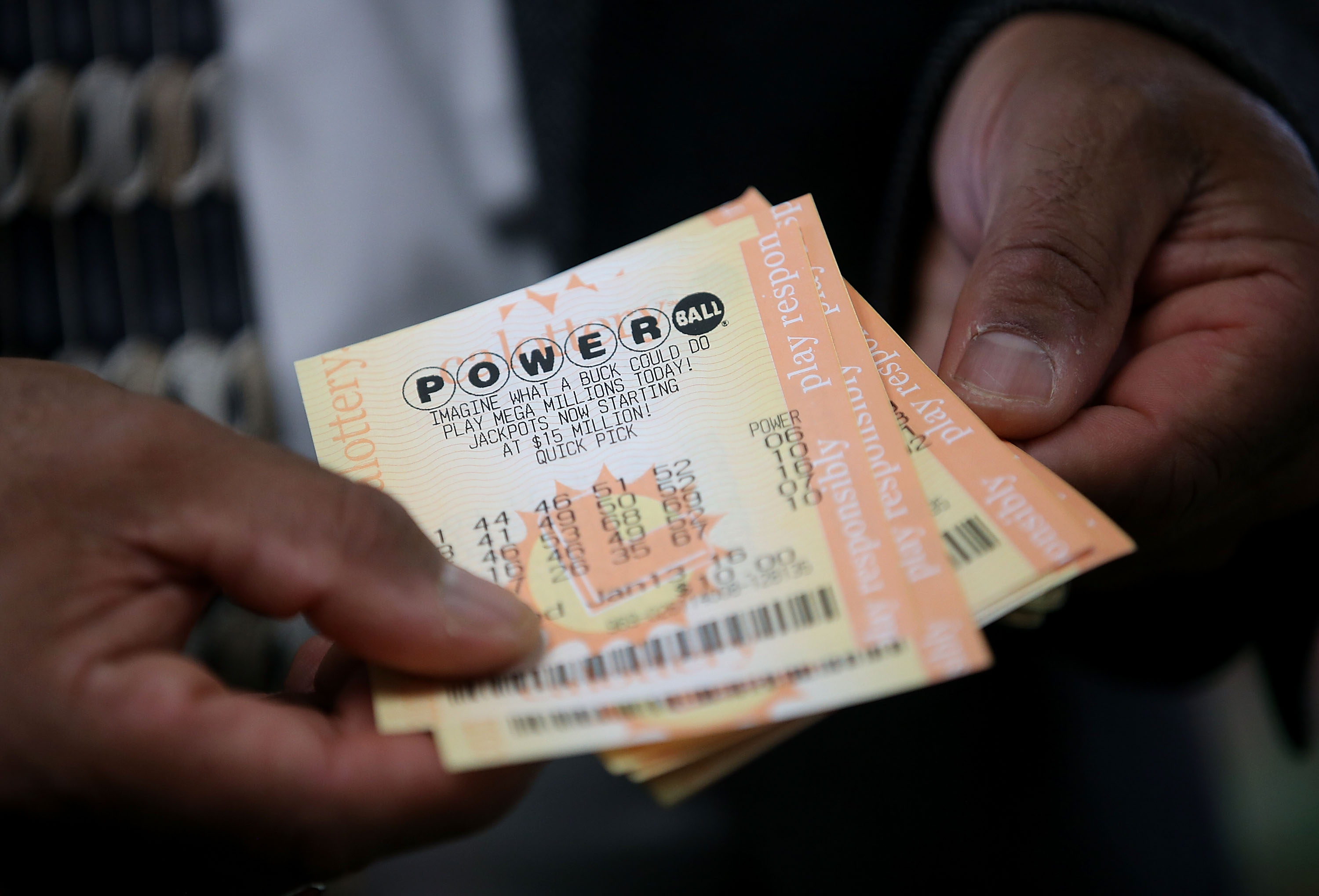 Consolation prizes for powerball numbers