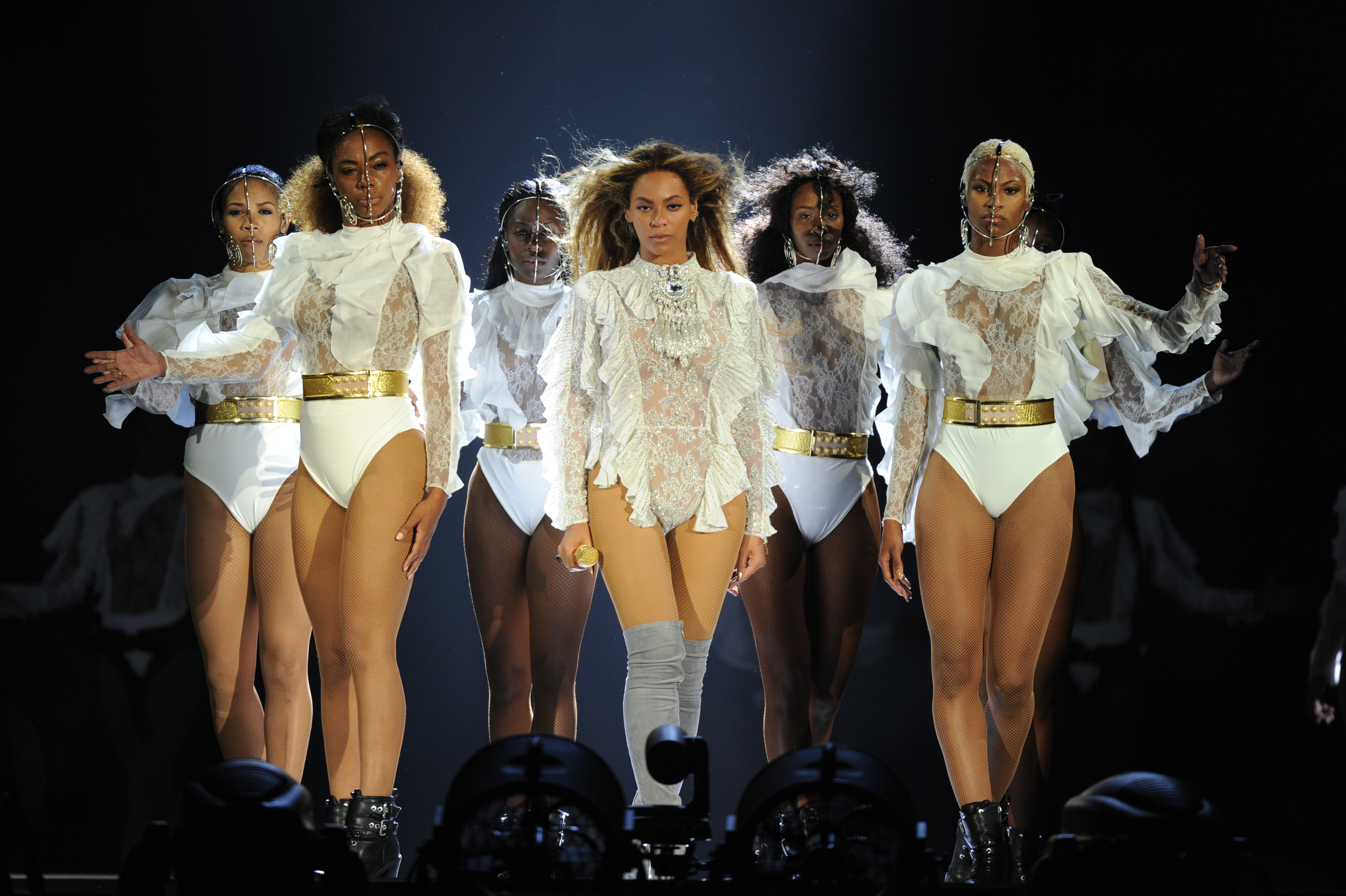 af6e77aa9af23 Copy Beyonce s Formation Tour Jumpsuit To Get That Balmain Nation Look —  PHOTOS
