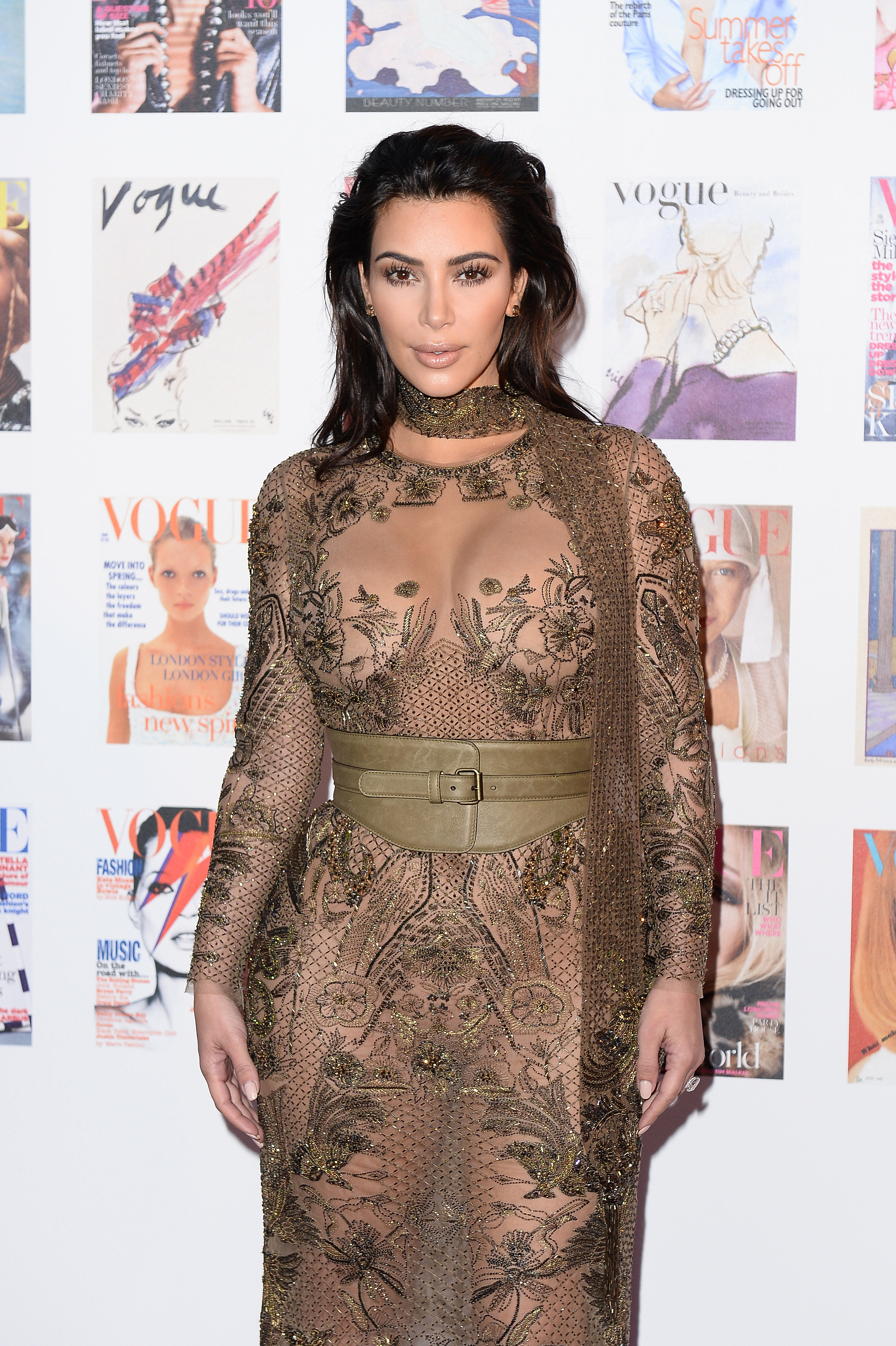 Kim Kardashian\'s Sheer Dress At \'Vogue\'s\' 100 Gala Was A Stunner ...