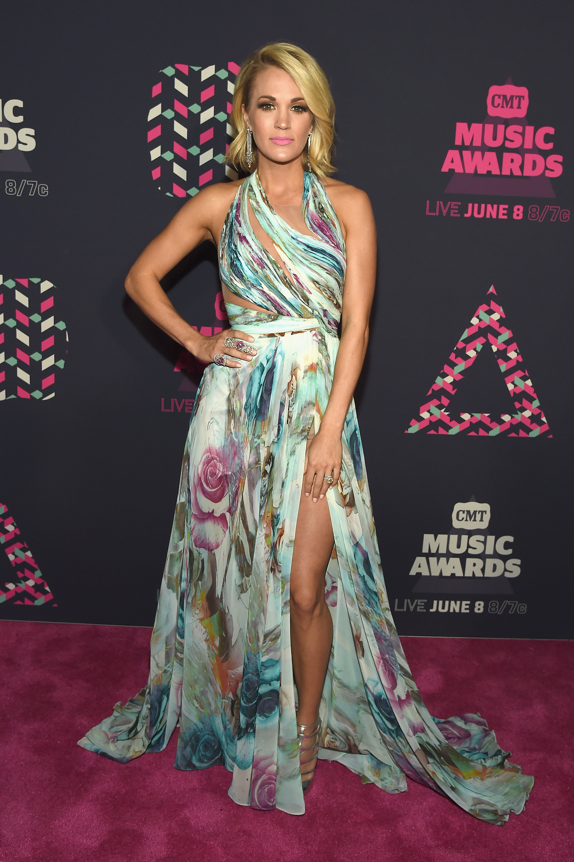Carrie Underwood in Davidson Zanine at the 2016 Academy of
