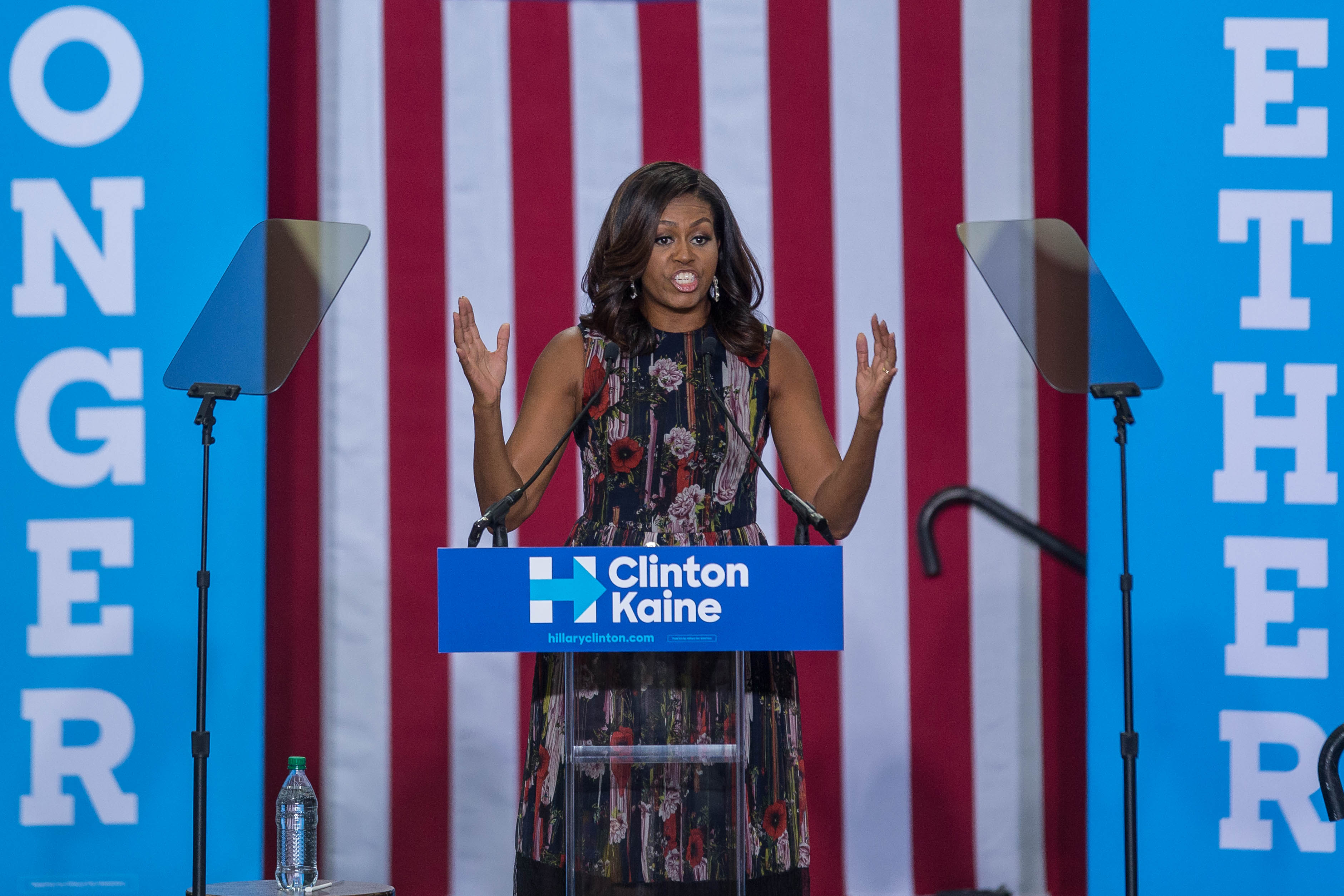 hillary clinton quotes michelle obama at the debate her words