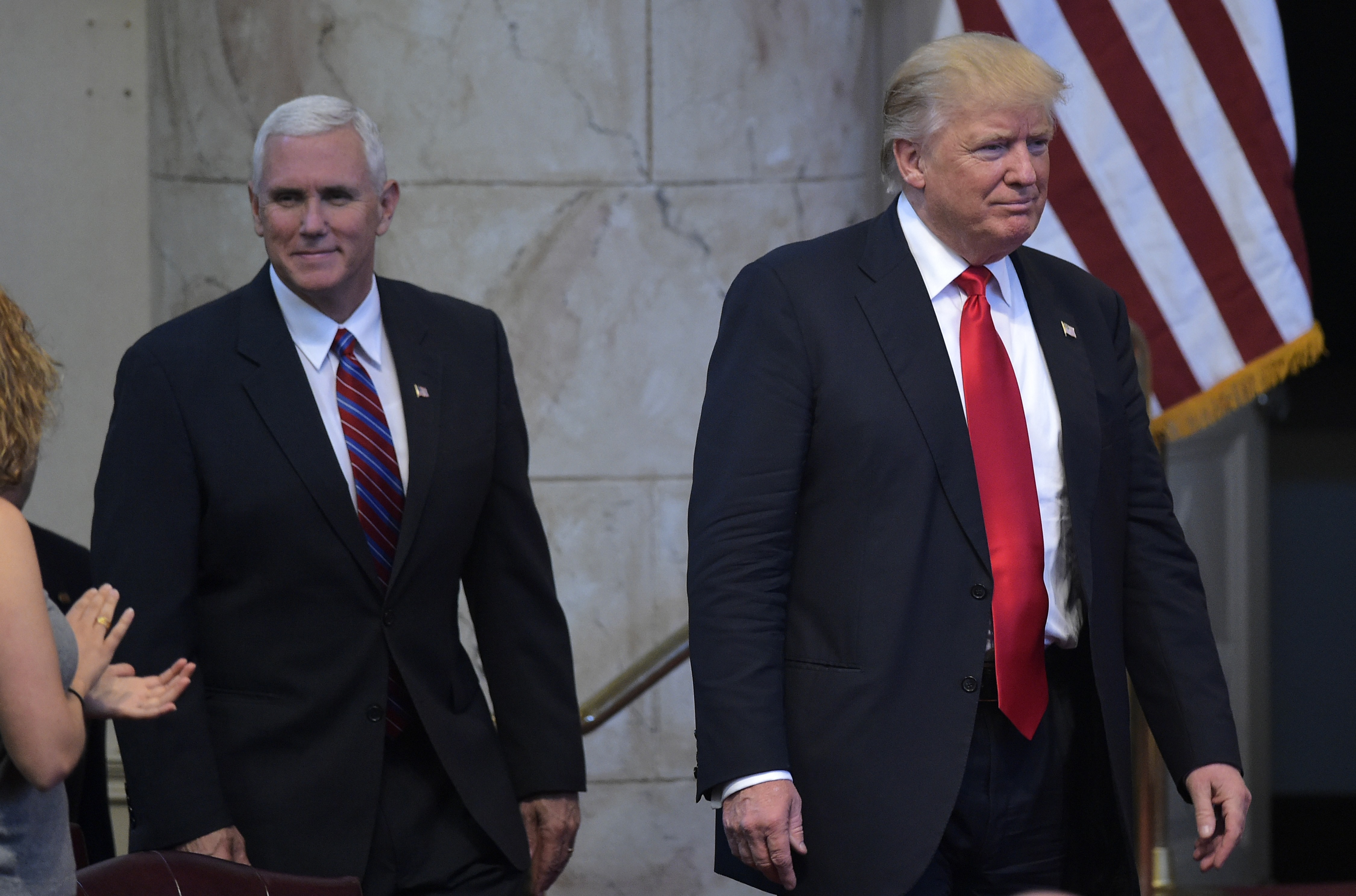 Donald Trump returns to script as contest tightens