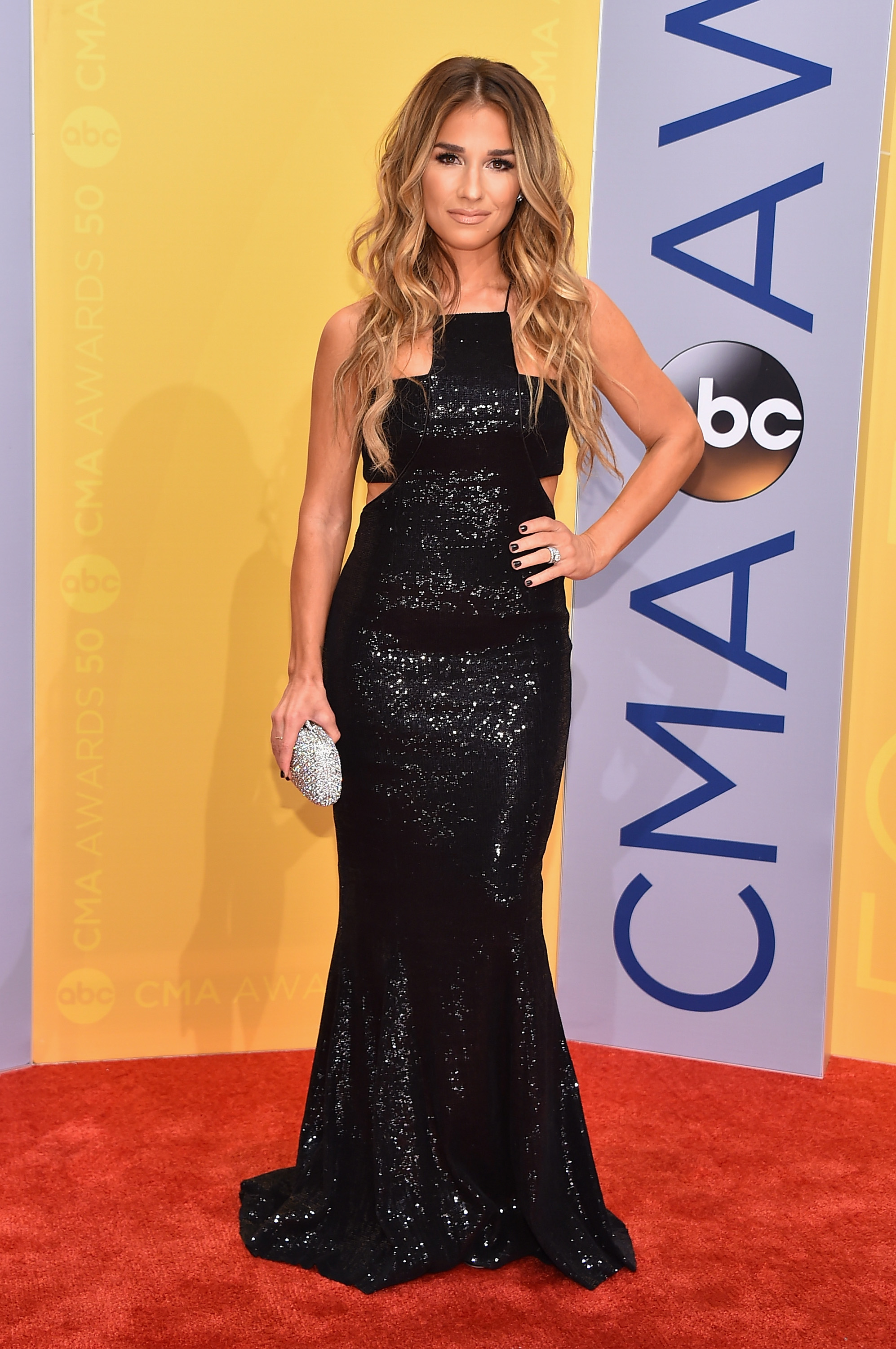 Jessie James Deckers 2016 Cmas Dress Brought Some Sparkle To The