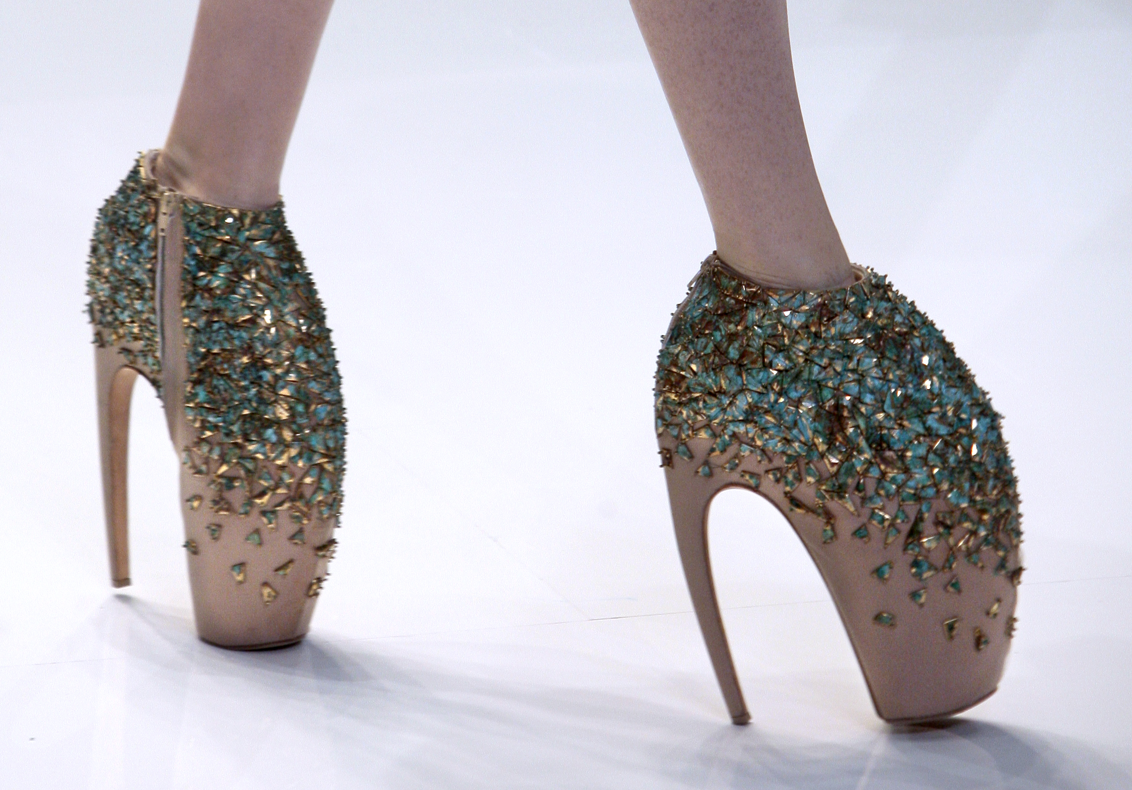 d7465e79744b Alexander McQueen Auctions Armadillo Shoes To Benefit The Relief Effort In  Nepal