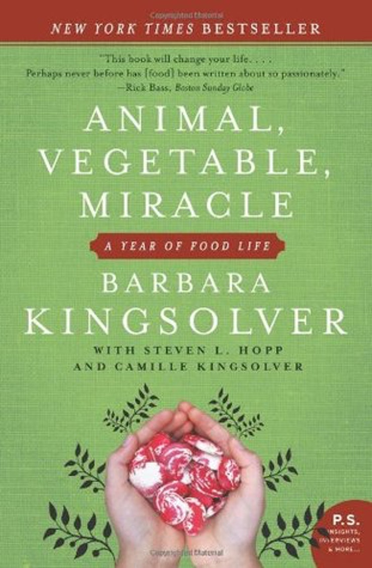 12 books to inspire your new year s resolutions animal vegetable miracle by barbara kingsolver
