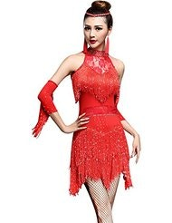 H m red dress dancing