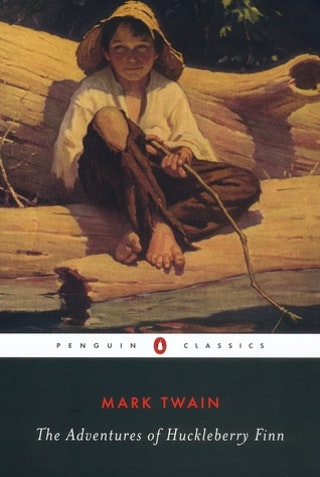 the two different settings in which huck lives in in the novel the adventures of huckleberry finn Huck finn spits, swears, smokes a  the penguin english library edition of the adventures of huckleberry finn by mark twain  the two boys' lives in the quiet.